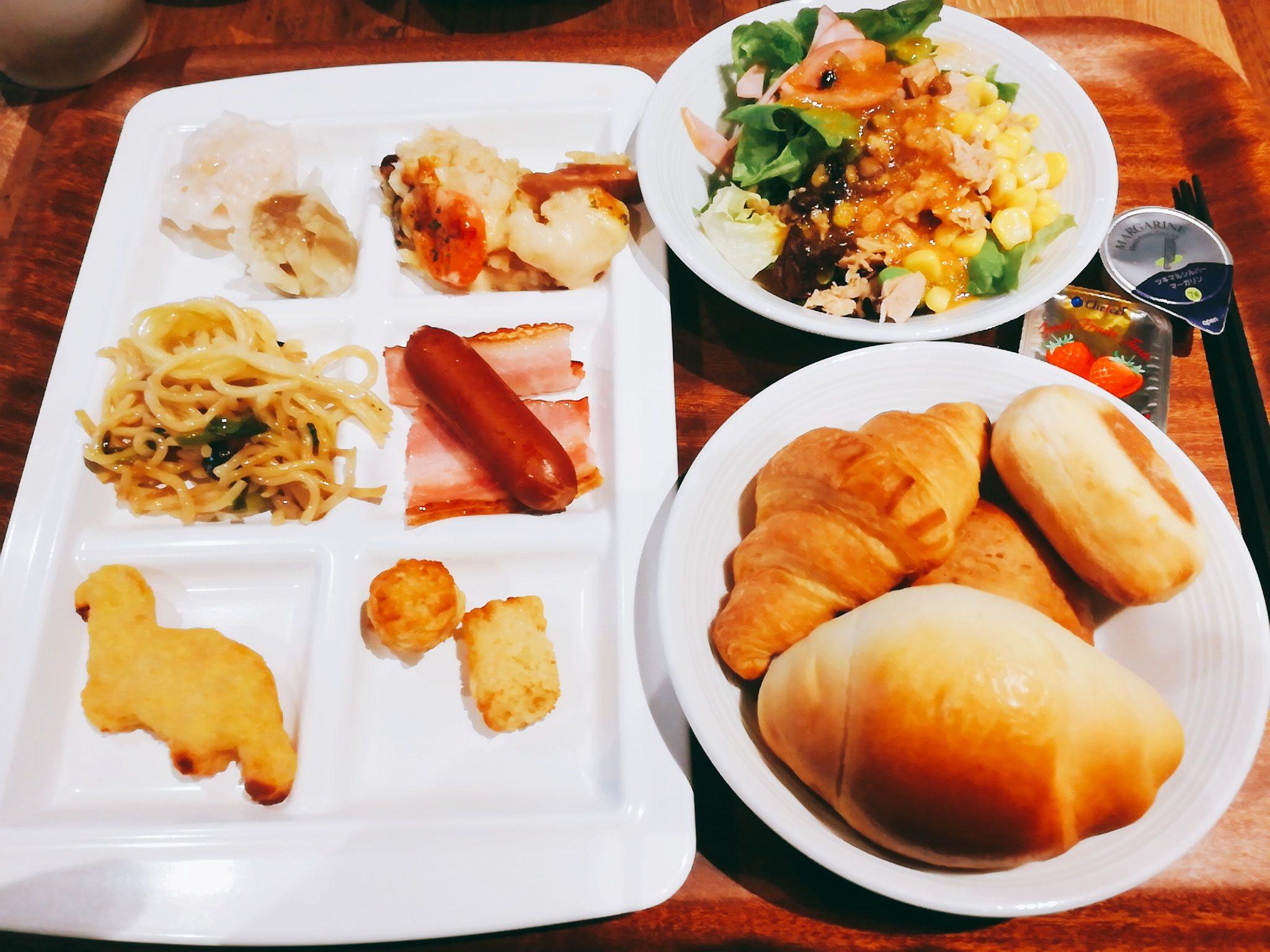 変なホテル舞浜東京ベイの朝食バイキング洋食メニュー