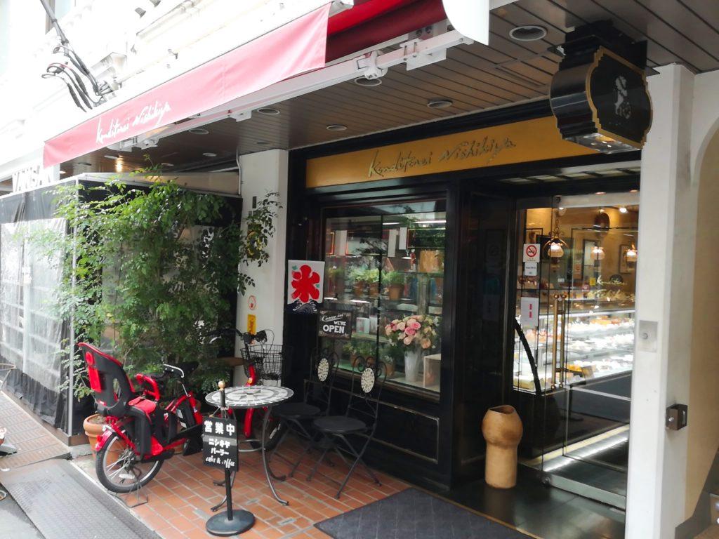 ニシキヤ洋菓子店の外観