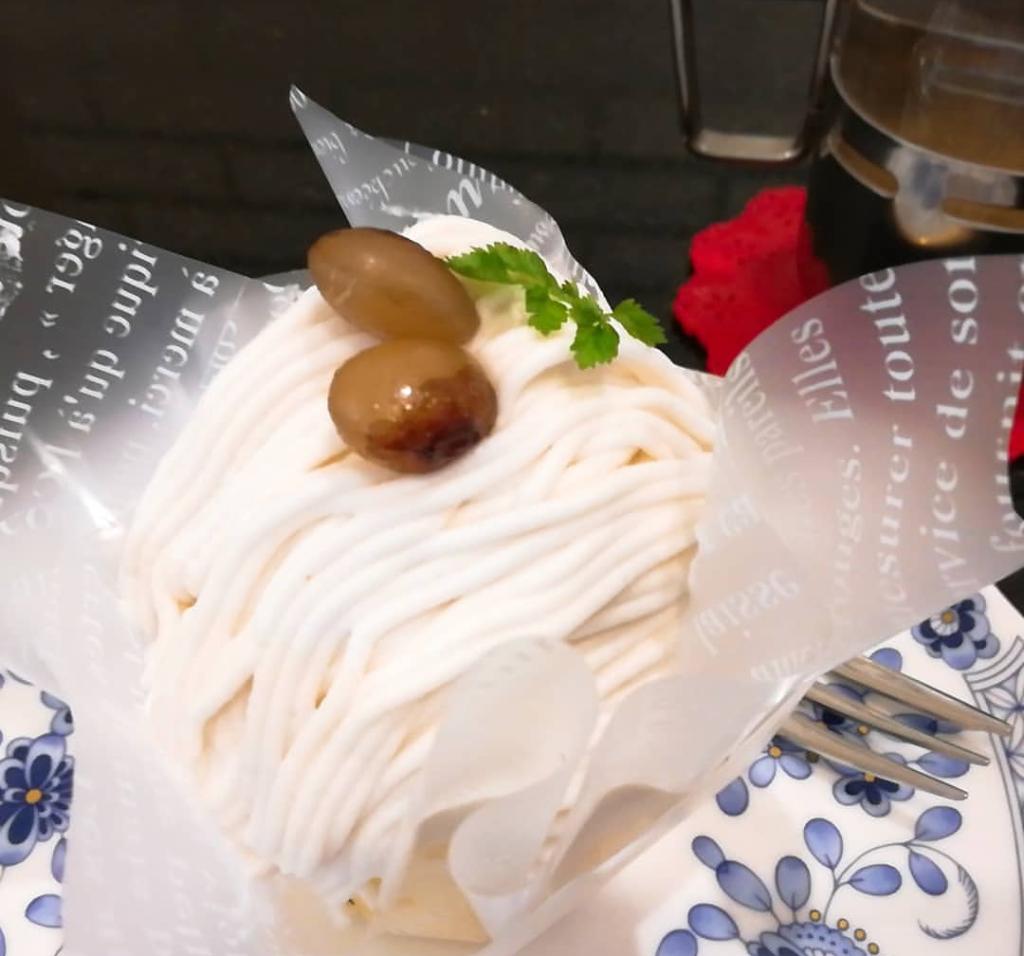 ニシキヤの白小豆モンブラン