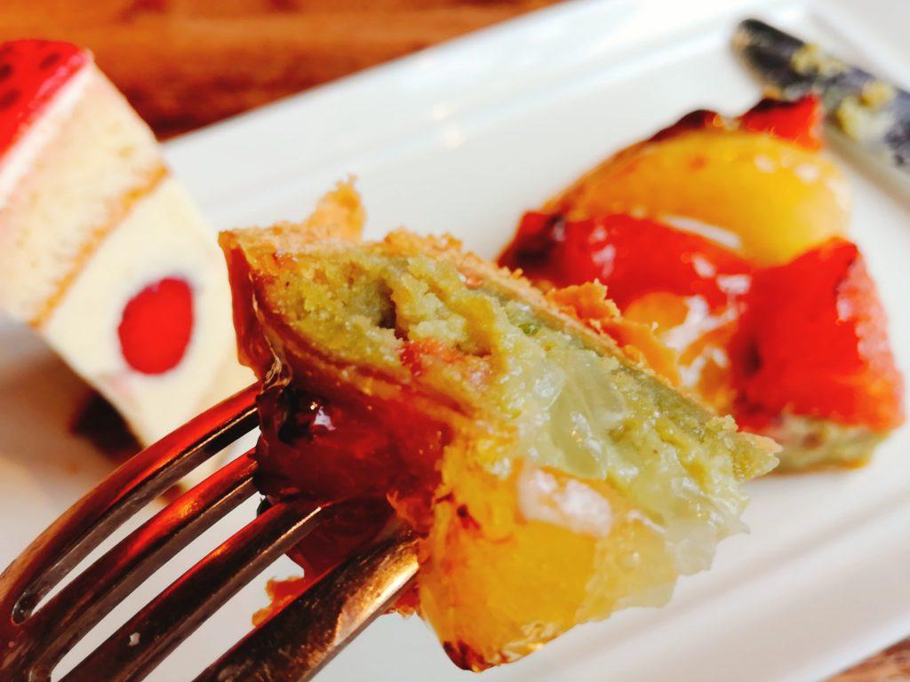 ラ・ヴィエイユ・フランスのケーキのアップ