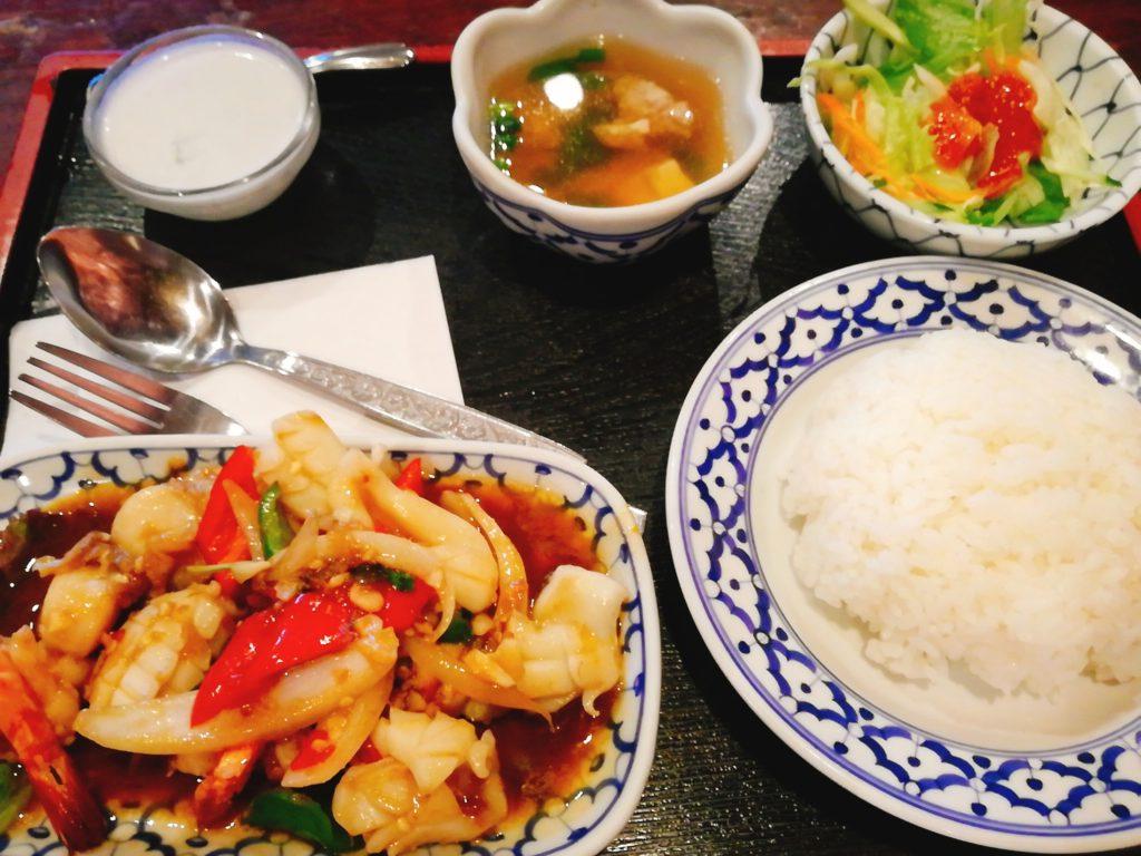 バンタイのパッチャオタレ―(シーフードの辛口炒め)