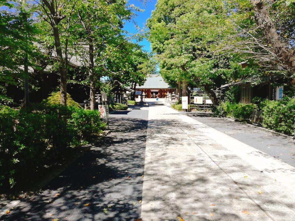 松陰神社の参道