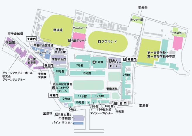 東京農業大学の地図