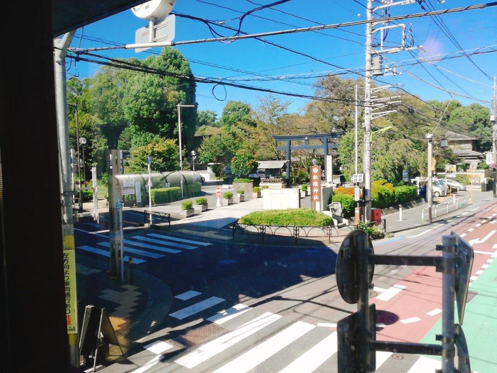 2階窓際から見える松陰神社