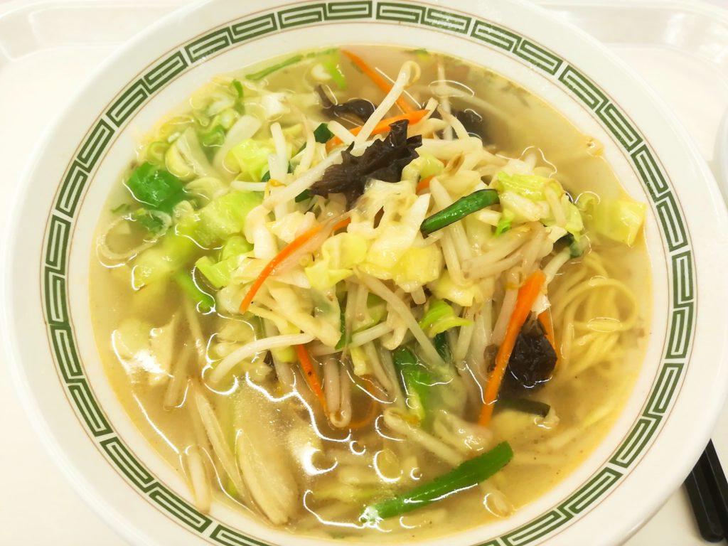 野菜スープ入りそば(タンメン)