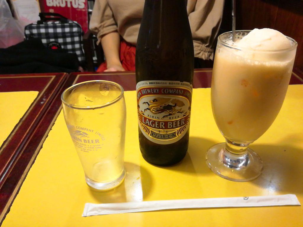 喫茶店セブンのナイトセットはビール付きでお得