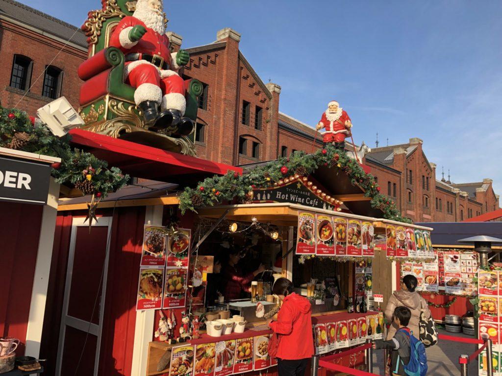 横浜クリスマスマーケットの売店