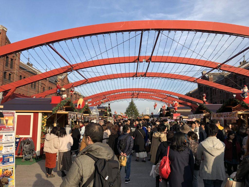 横浜クリスマスマーケットの様子