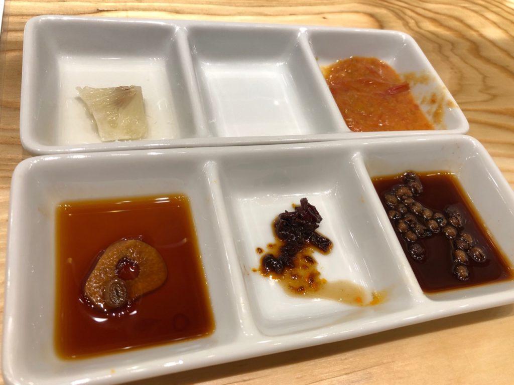 日本餃子センターの調味料