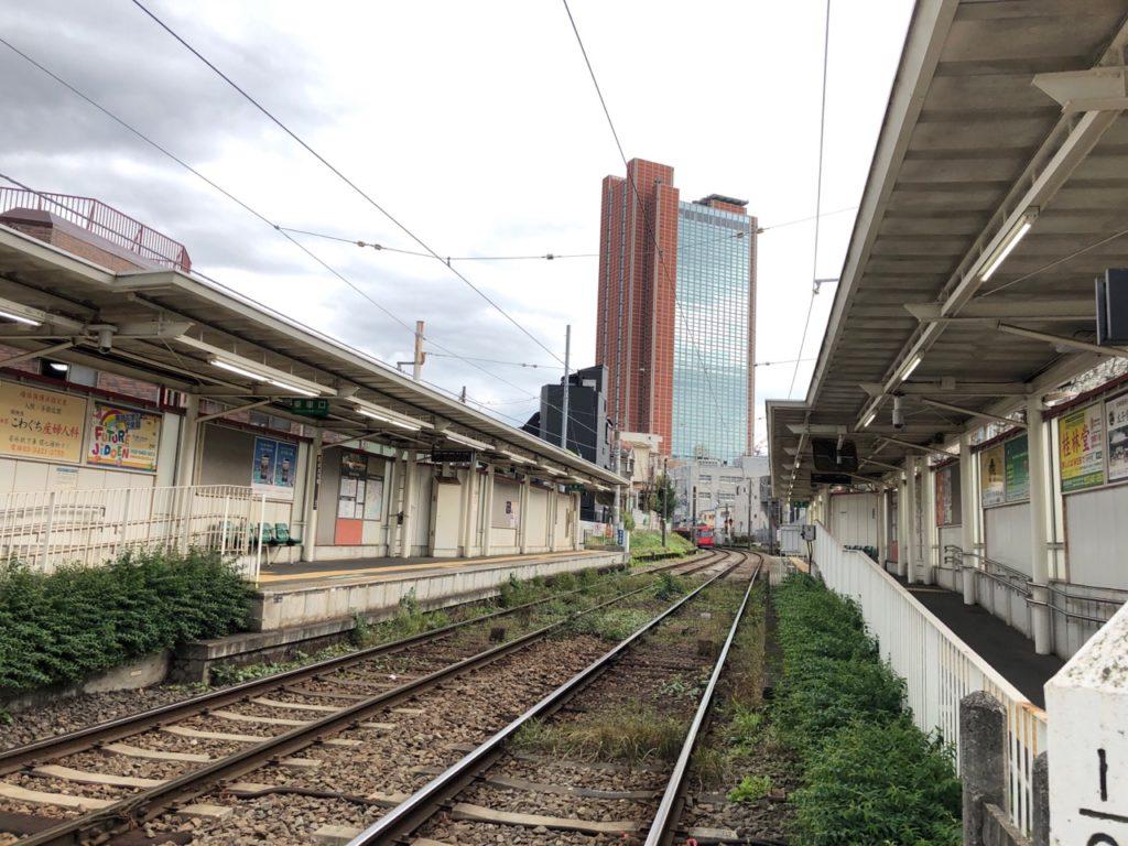西太子堂駅から見るキャロットタワー