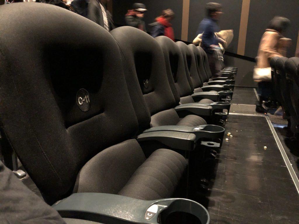 二子玉川映画館の椅子