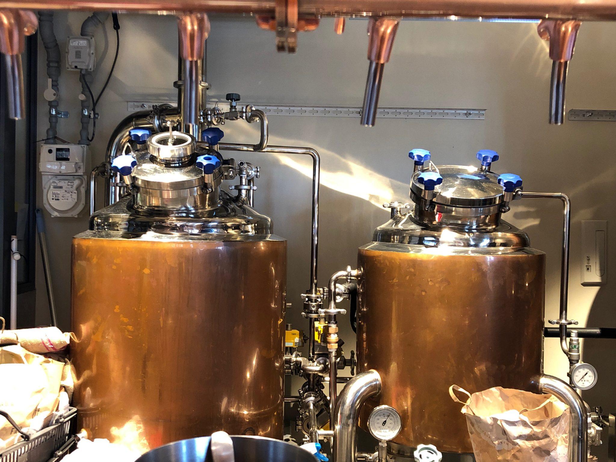 ふたこビール醸造所のクラフトビールを作る様子