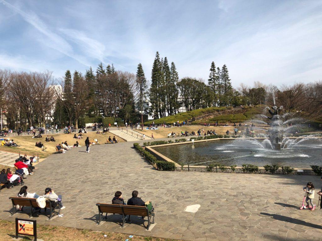 世田谷公園の噴水