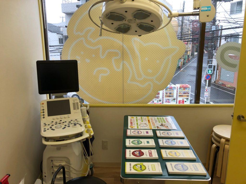 経堂どうぶつ病院の診察室