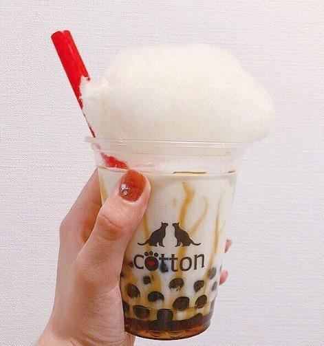 新感覚タピオカカフェ cotton(コットン)のタピオカミルクティー