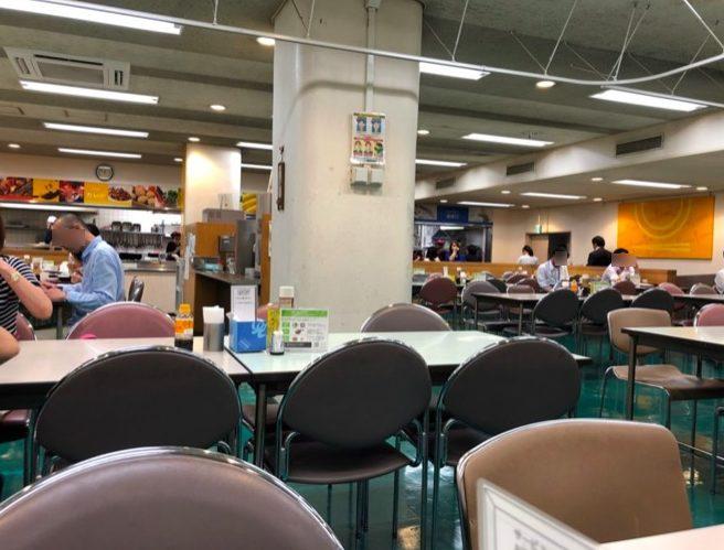世田谷区役所 地下食堂の様子