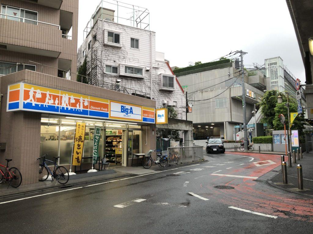 ビッグ・エーセレクト経堂店の場所