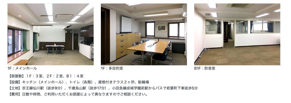 仙川ラーニングプレイスはレンタルスペースの設備