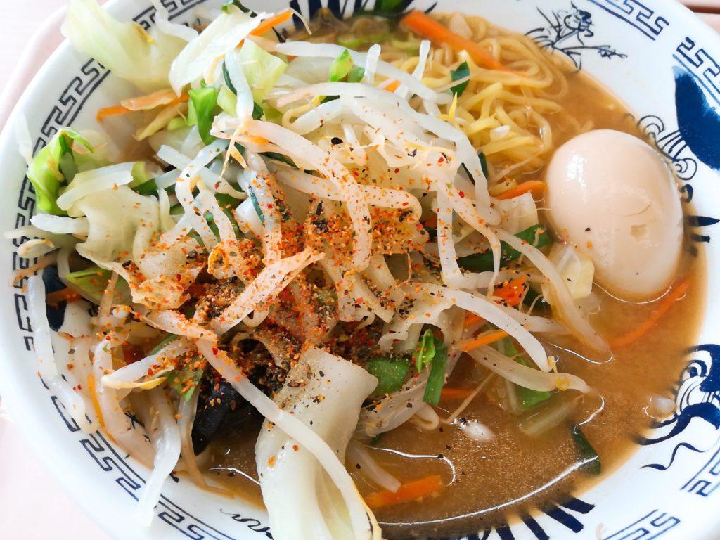日大文理学部の学食「コスモス」味噌タンメン