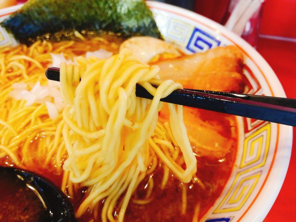 """八幡山""""長浜ラーメン""""の麺"""