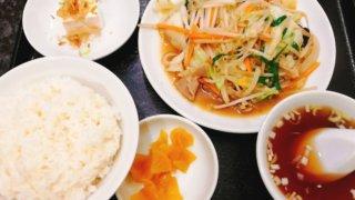【品香園 千歳烏山】ランチ肉野菜炒めがニンニクが効いて美味い!
