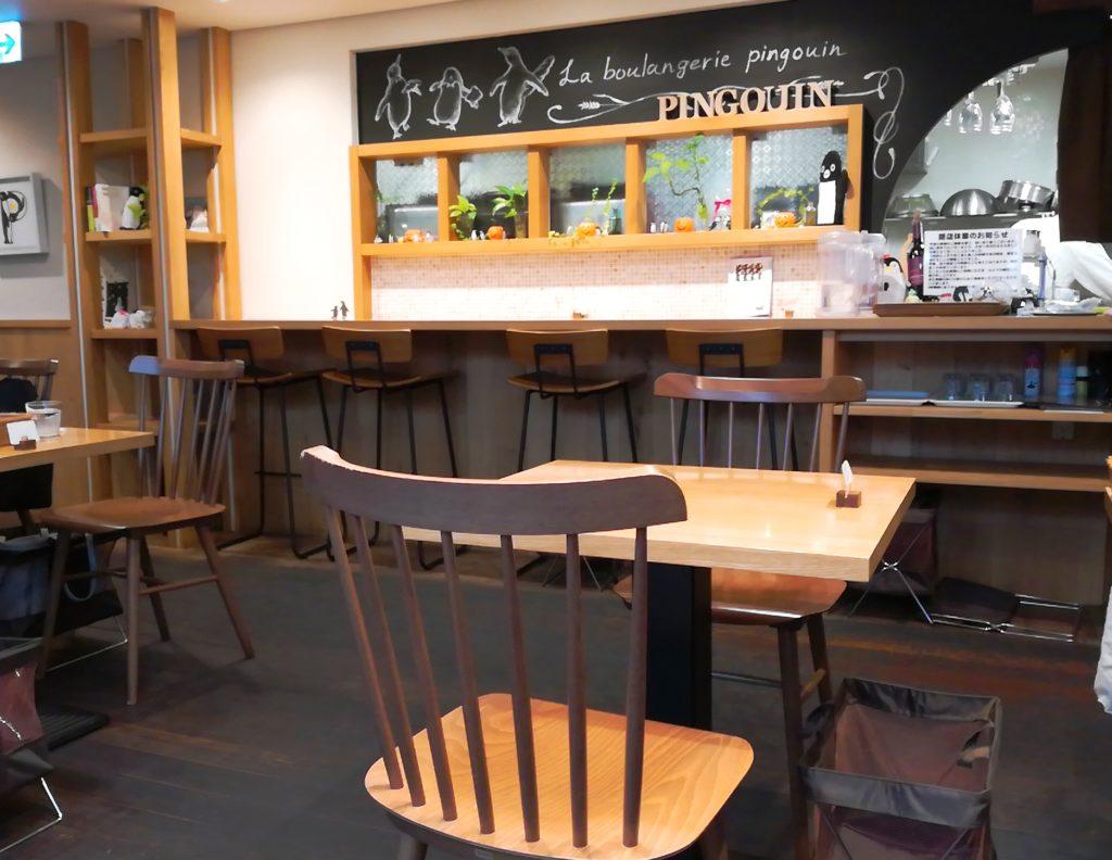 ぱんやのパングワンの以前あったカフェ(イートインスペース)