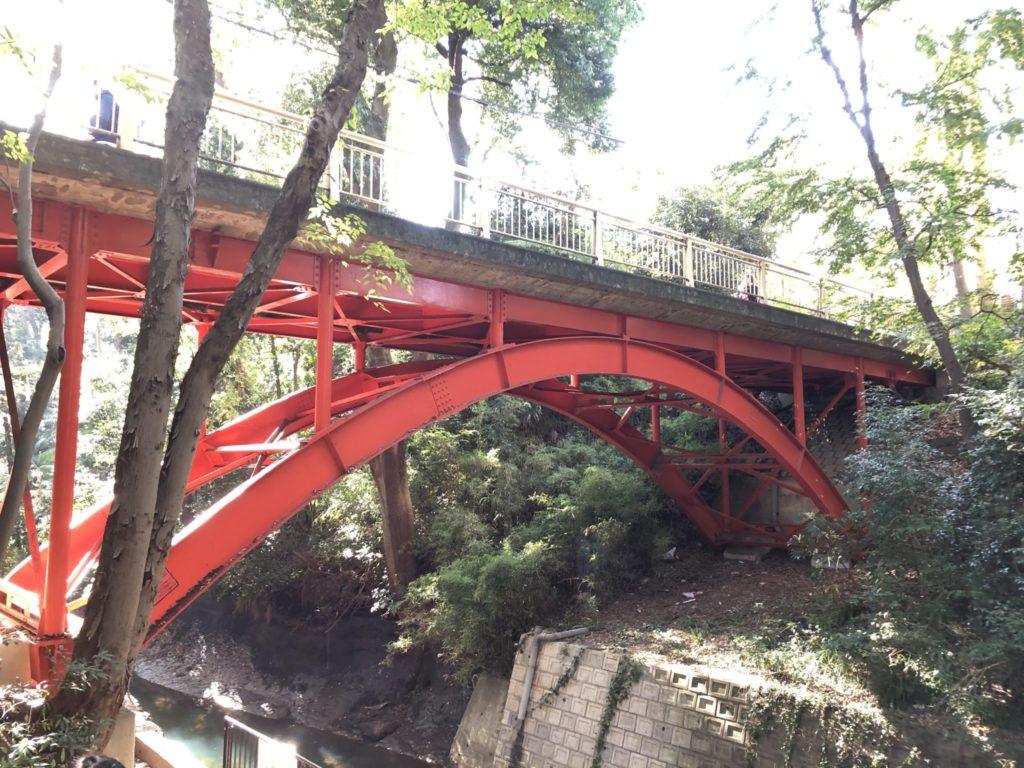 等々力渓谷のメガネ橋