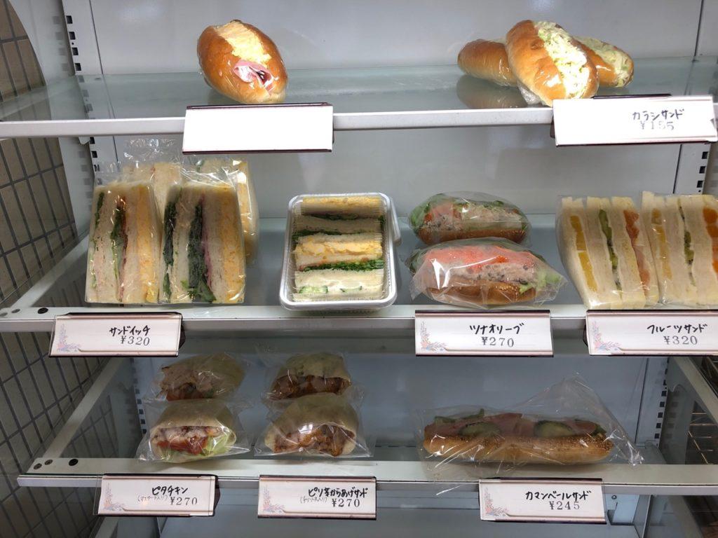 フジヤ桜新町駅前店のサンドイッチ
