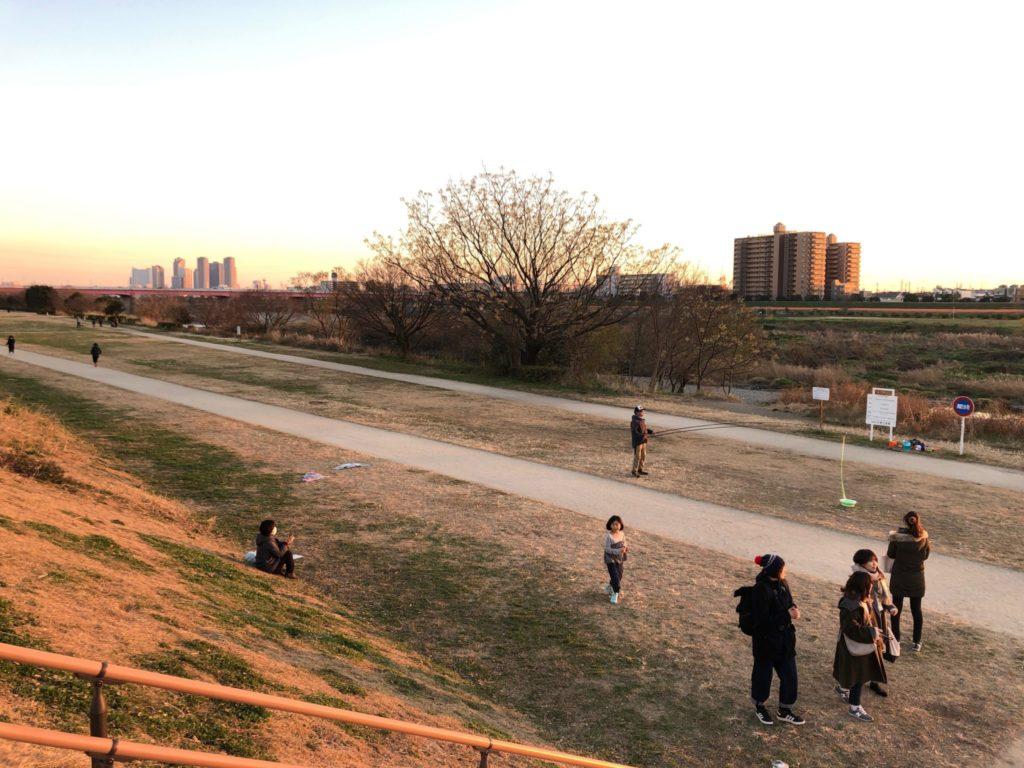 二子玉川公園に来るシャボン玉おじさん