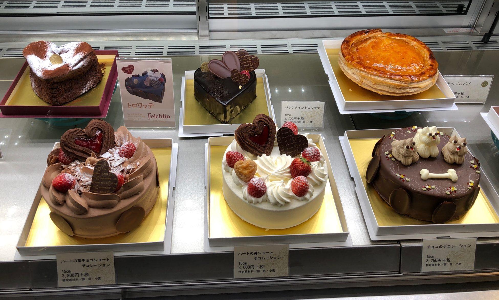 成城風月堂本店のデコレーションケーキ