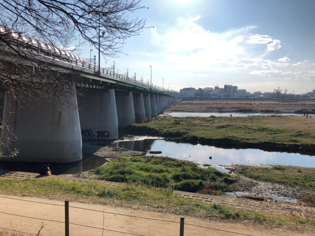 世田谷区兵庫島公園の多摩川
