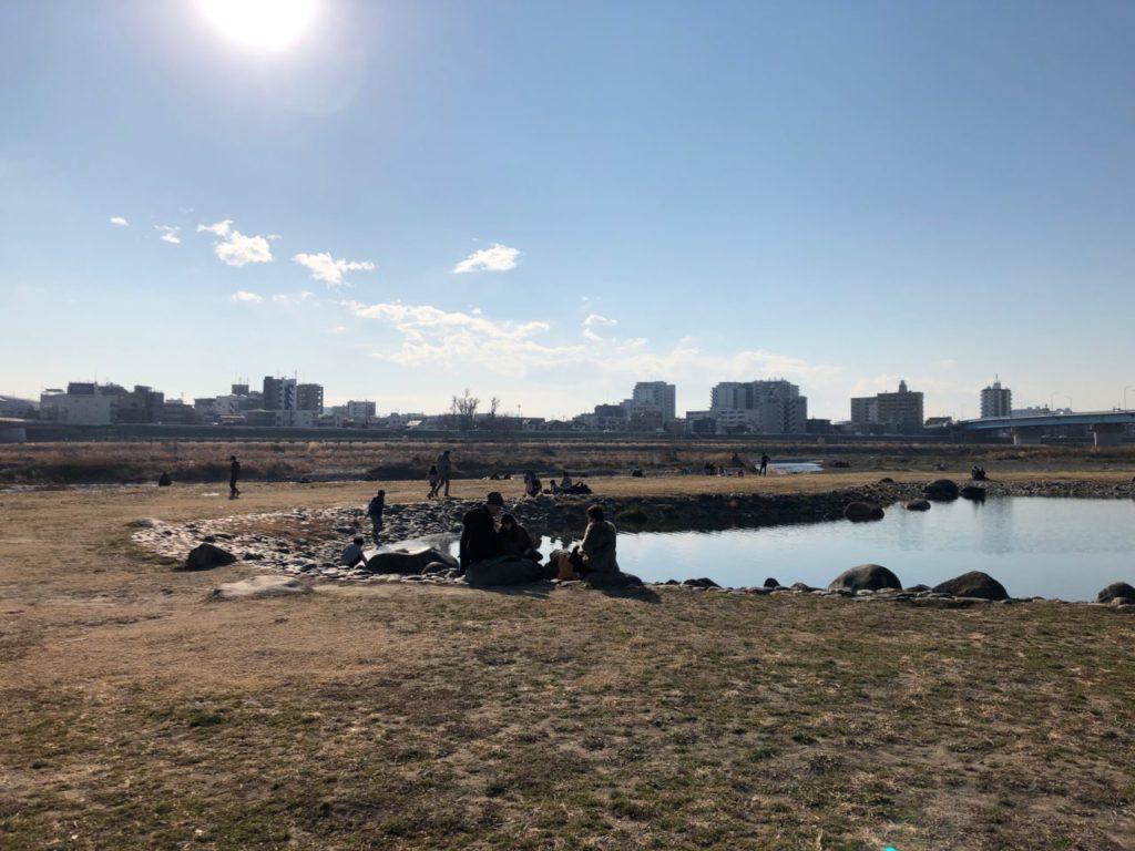世田谷区兵庫島公園のひょうたん池