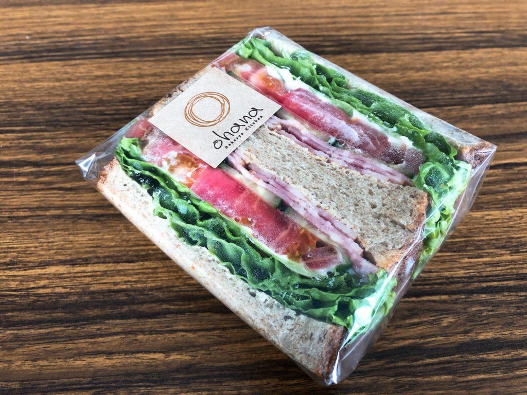 ベーカリーズキッチンオハナ二子玉川店のサンドイッチ