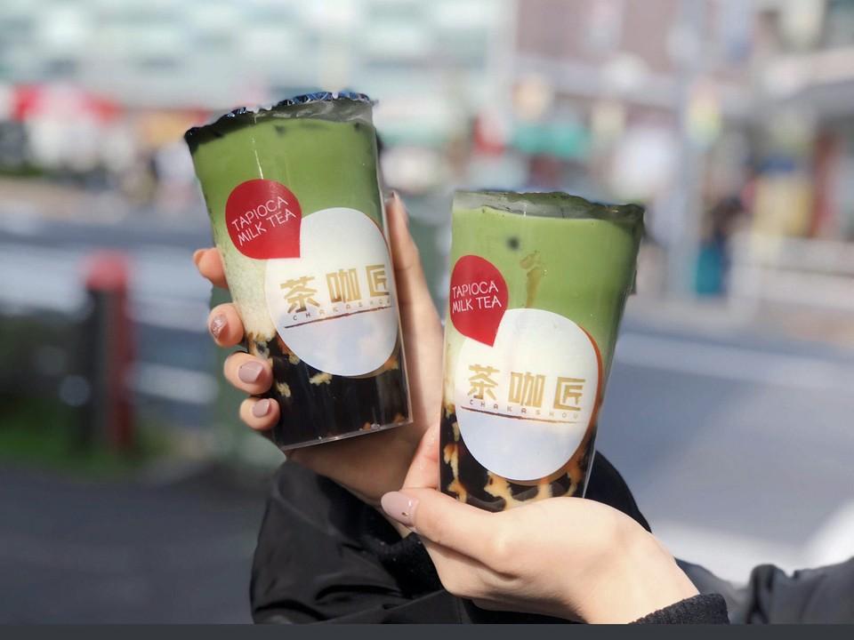 チャカショウ明大前店の抹茶タピオカミルクティー