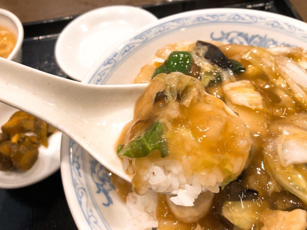 北海(ほっかい) 尾山台のランチ中華丼アップ