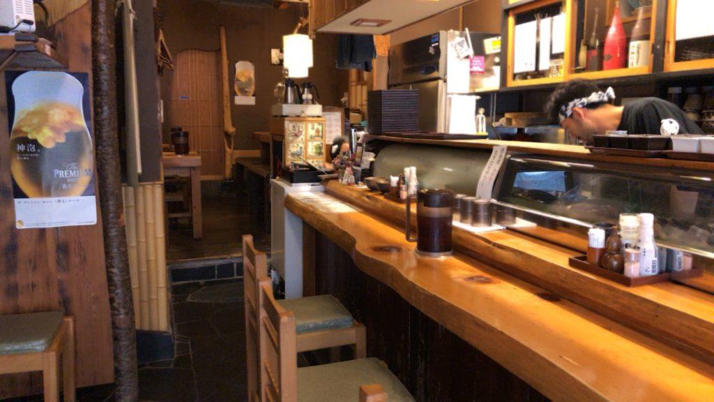 吉良(きら)松陰神社前のカウンター席