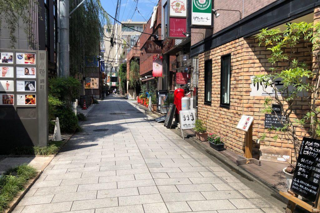 リヴィエール 二子玉川のある商店街