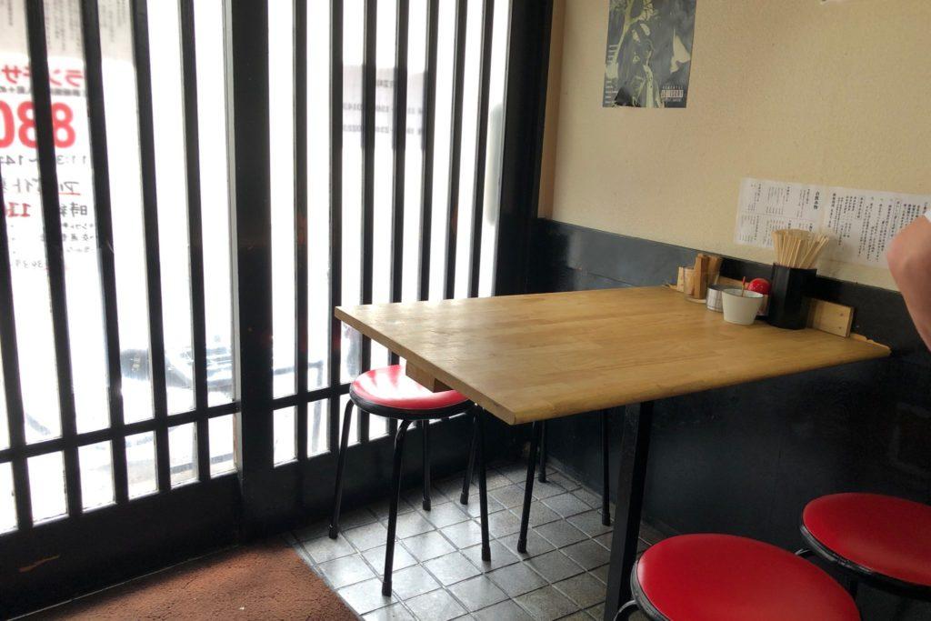 鉄板焼肉 大当りのテーブル席