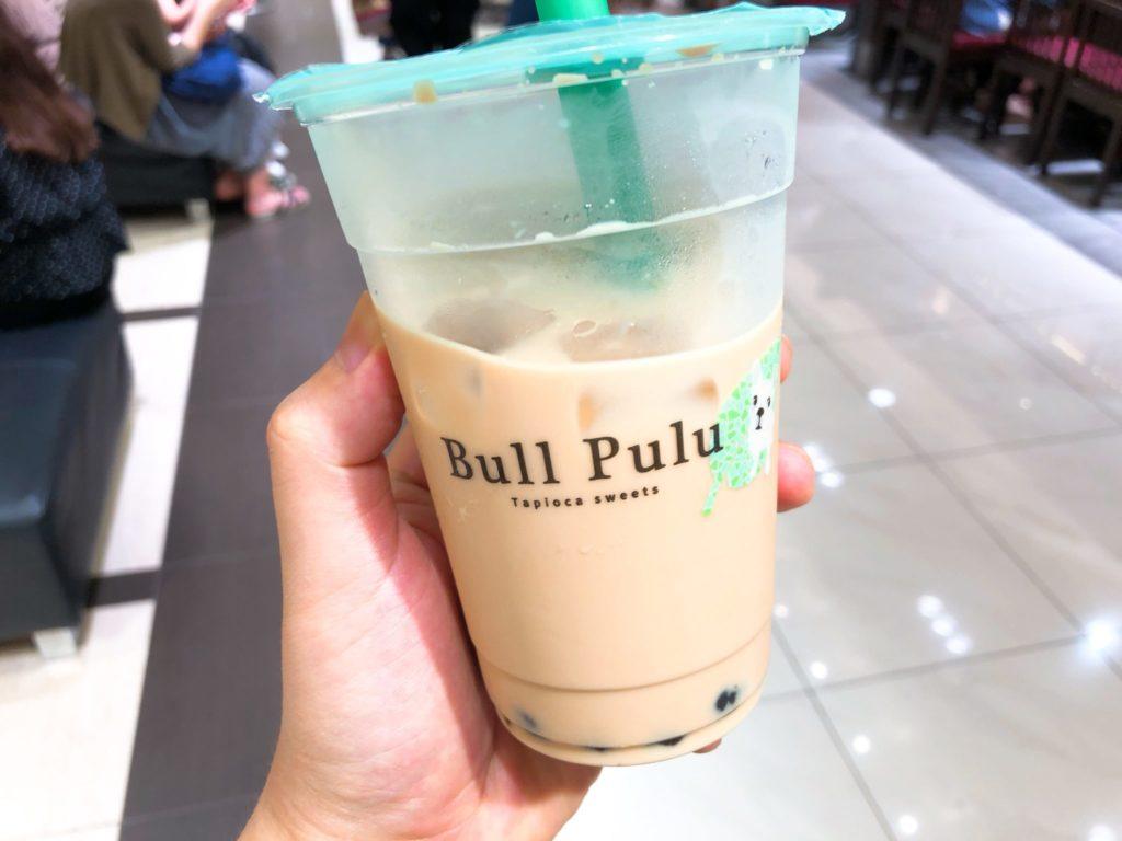 Bullu PuLu(ブルプル)たまプラーザ店の杏仁タピオカミルクティー