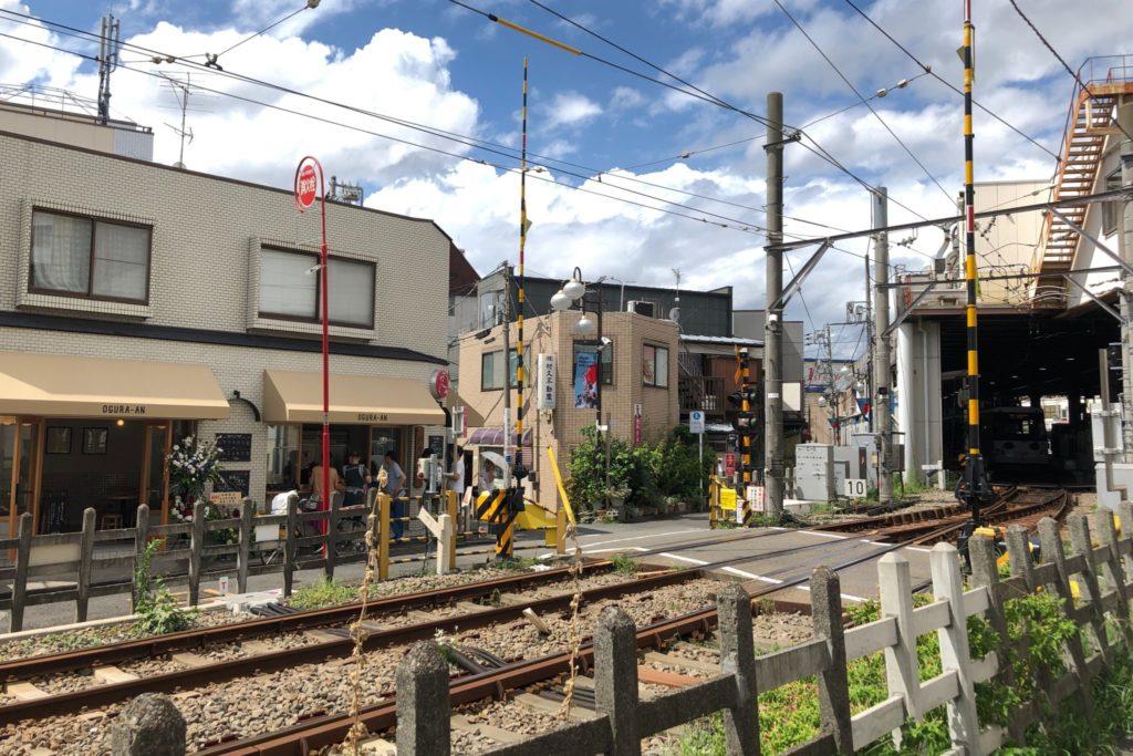 経堂小倉庵 下高井戸店は世田谷線沿いにあり