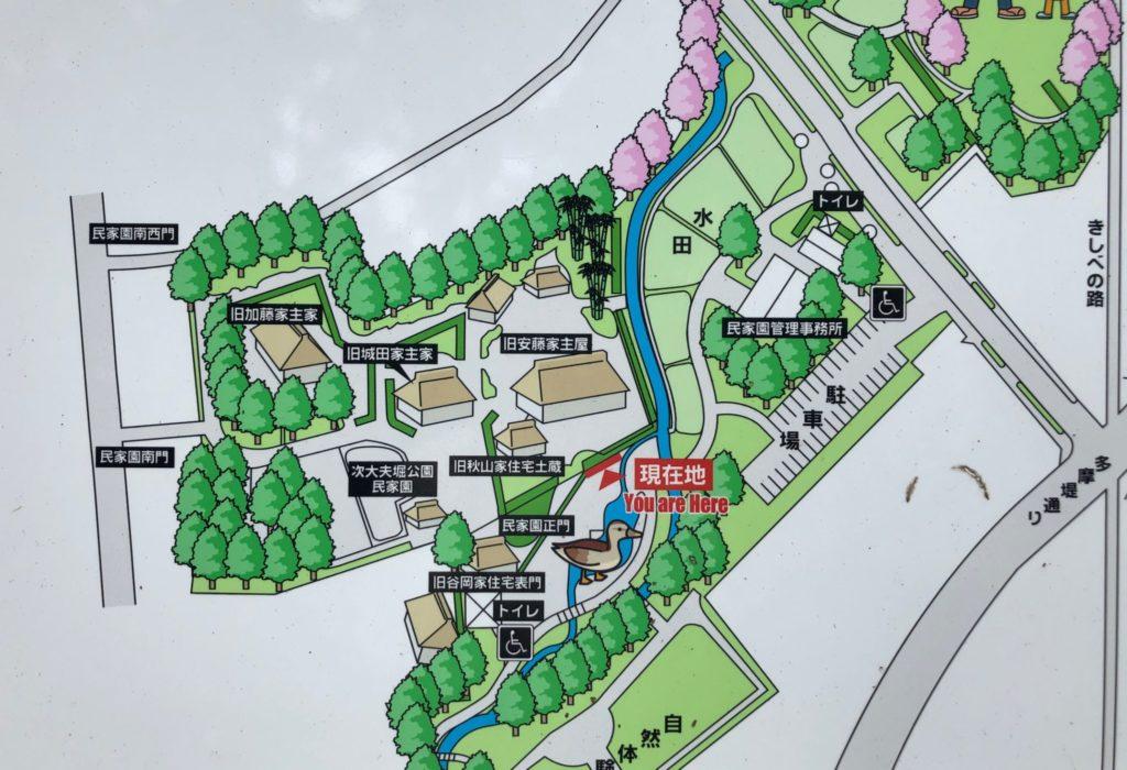 次大夫堀公園の地図