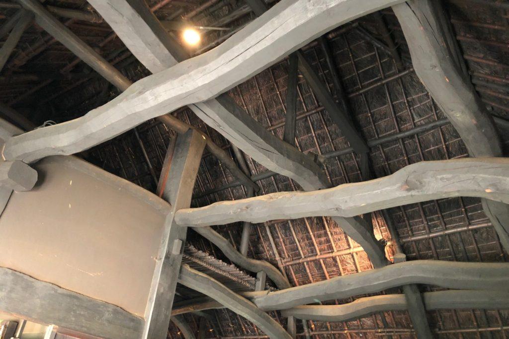 次大夫堀公園民家園の旧安藤家住宅主屋の天井の様子
