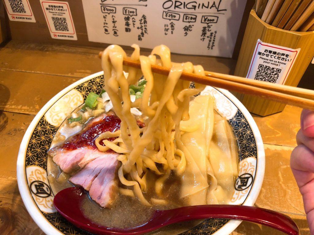 凪(なぎ)下北沢店の麺