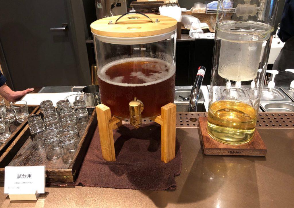 カムバイティー 表参道本店の試飲できるお茶