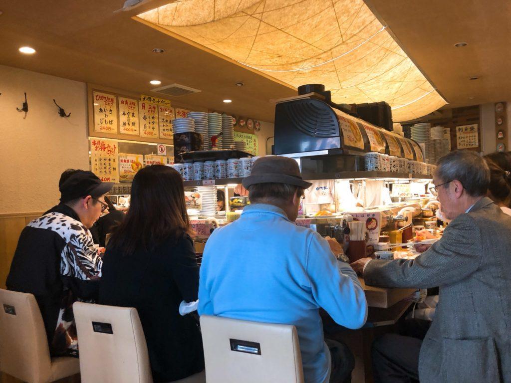 すし台所家 三軒茶屋店の店内の様子
