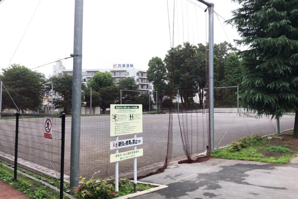 世田谷区にある希望ヶ丘公園の球技場
