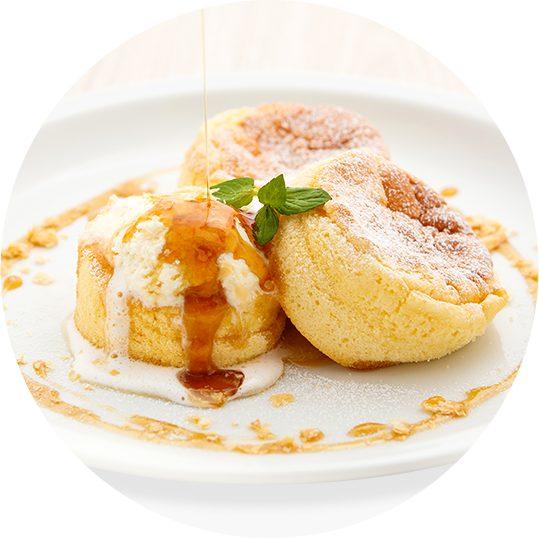 バター自由が丘店 スフレパンケーキ