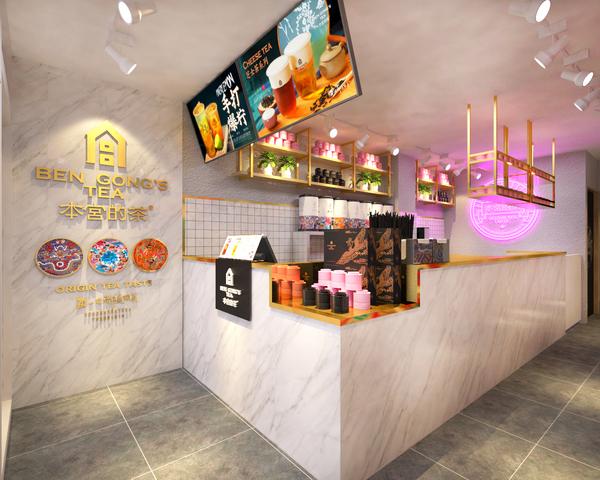 本宮的茶(タピオカ屋)新小岩店の店内の様子