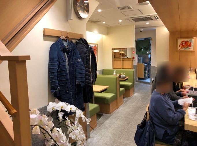 梅ヶ丘の美登利寿司の1階店内様子