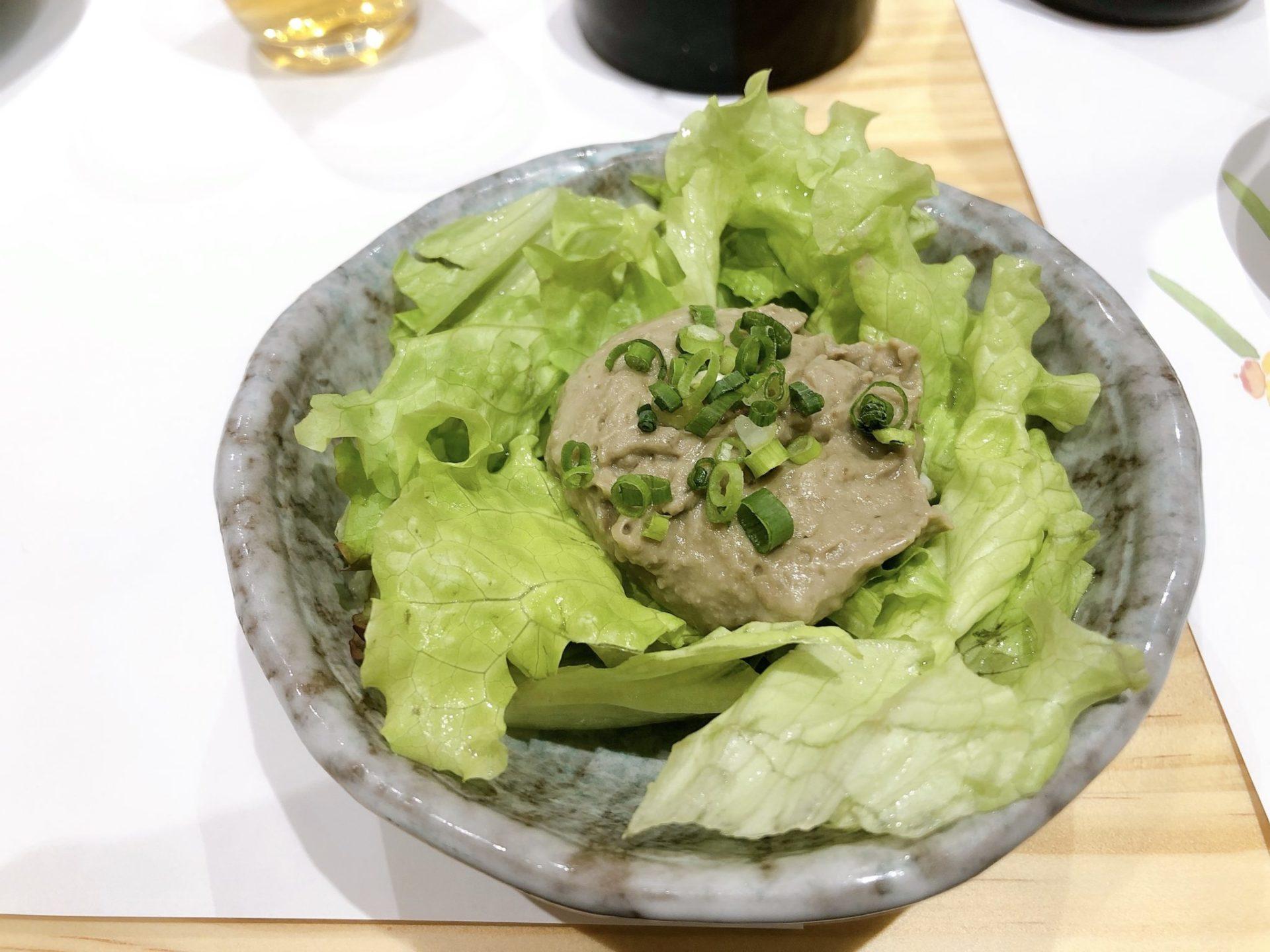梅ヶ丘の美登利寿司のかにみそサラダ